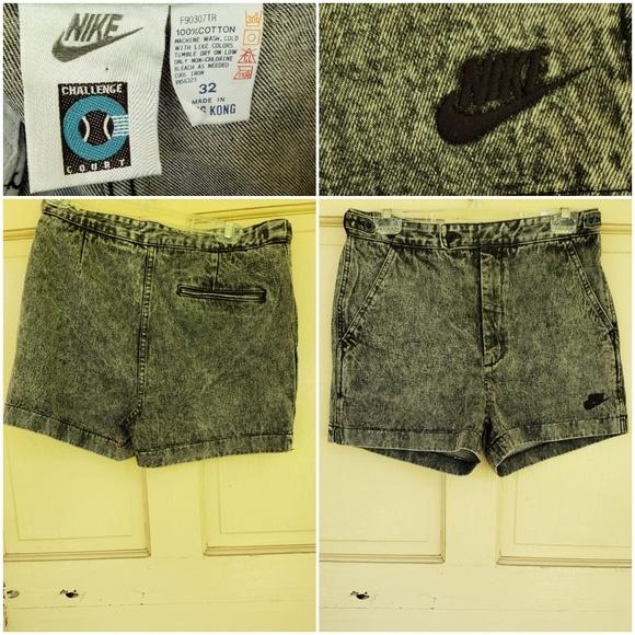 Nike Pants - Vintage Acid Wash Nike Denim Shorts